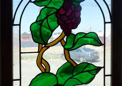 Grapes On Ivy stained glass