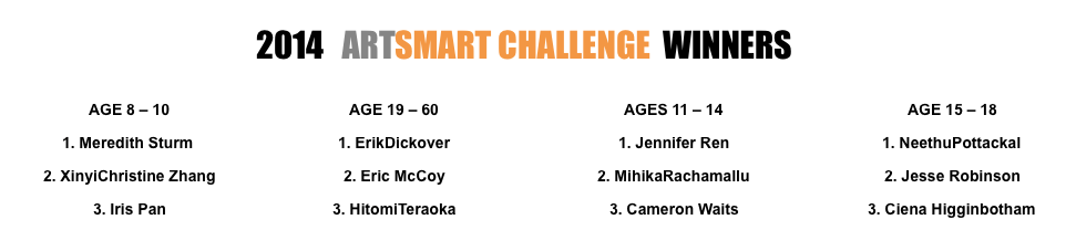 Art Smart Challenge 2014 winners