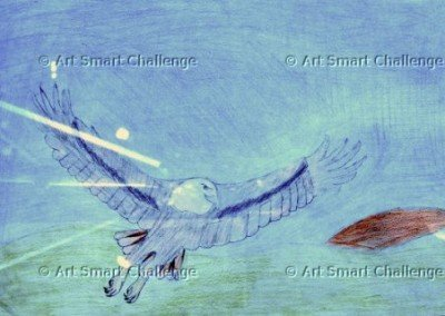eagle with spread wings - art smart challenge