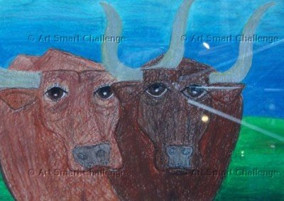 Two cows - Stained Glass Designs