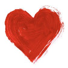 finger painted heart