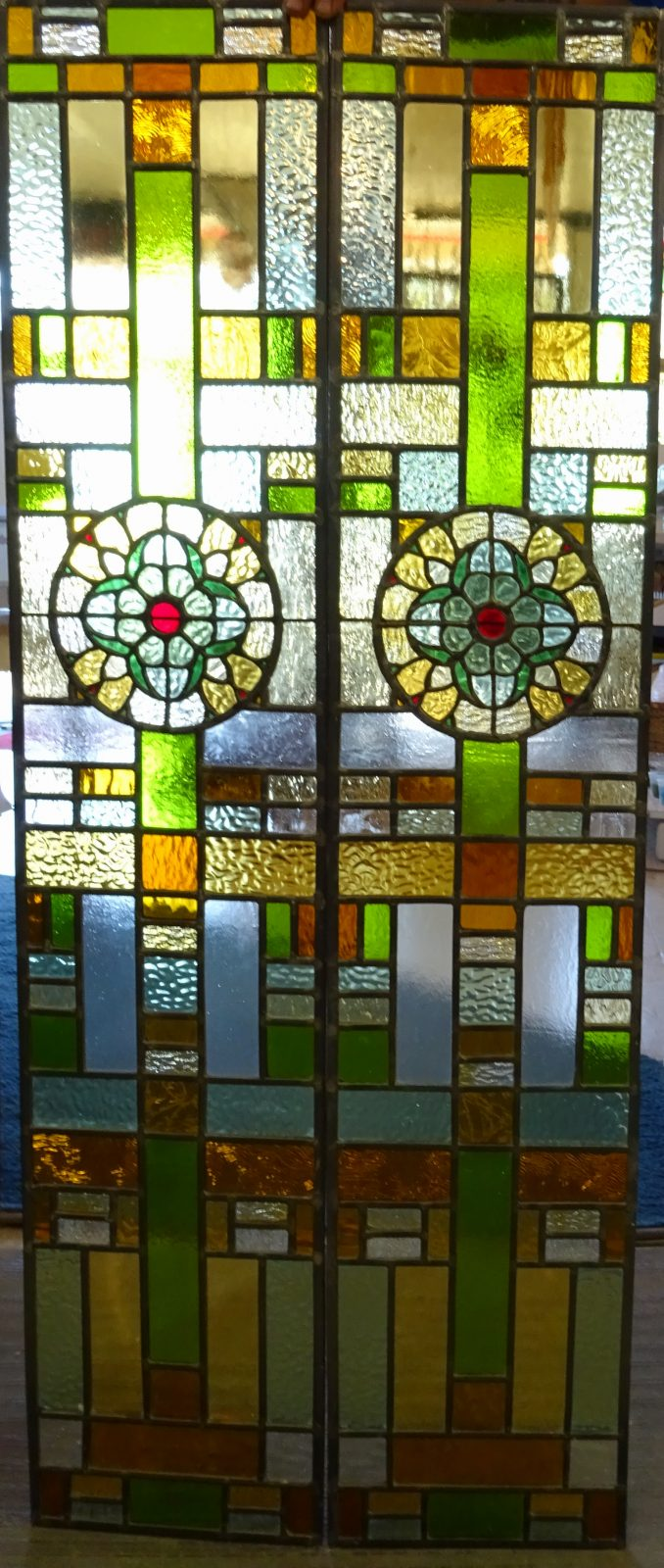 carson side lights Stained Glass
