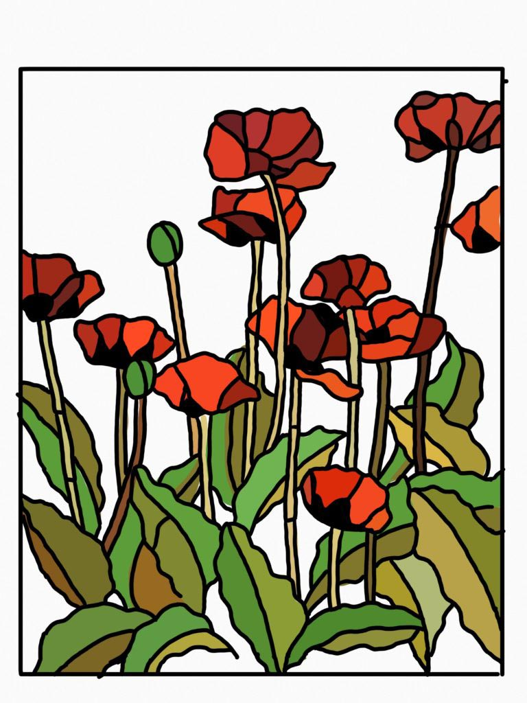 Poppies by Tulsa Paint Palette