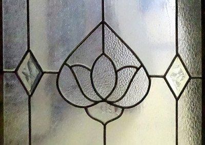 Frosted Lotus stained glass