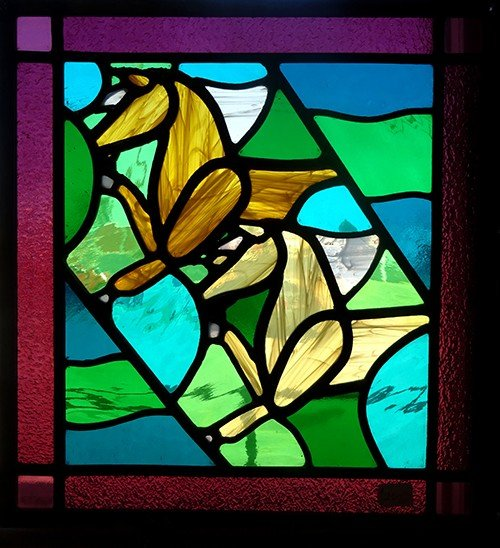 Horses Window stained glass