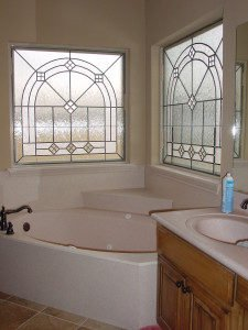 Bathroom Stained Glass Window