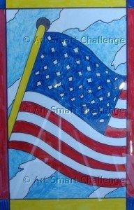 American Flag - Art Smart Challenge