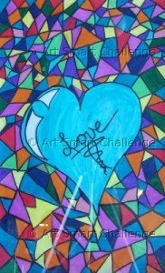 Heart & love - stained glass