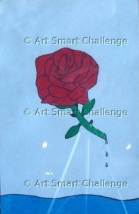 rose design - stained glass
