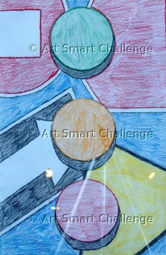 3 circles abstract - stained glass design
