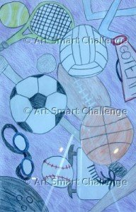 sports balls & more - Stained glass project