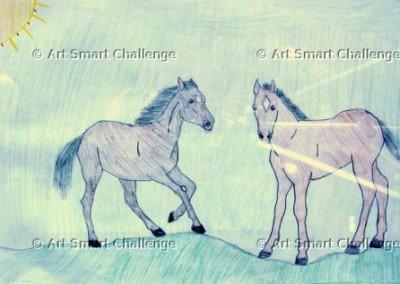 2 horses - art smart challenge