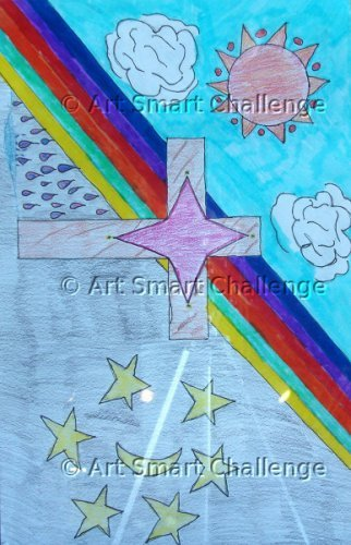 cross over red, blue, and yellow - art smart challenge 2015