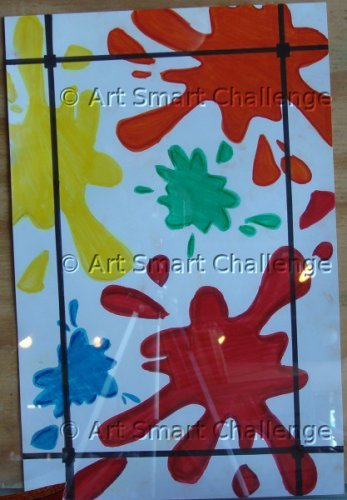 Splatters on wall - Art Smart Challenge