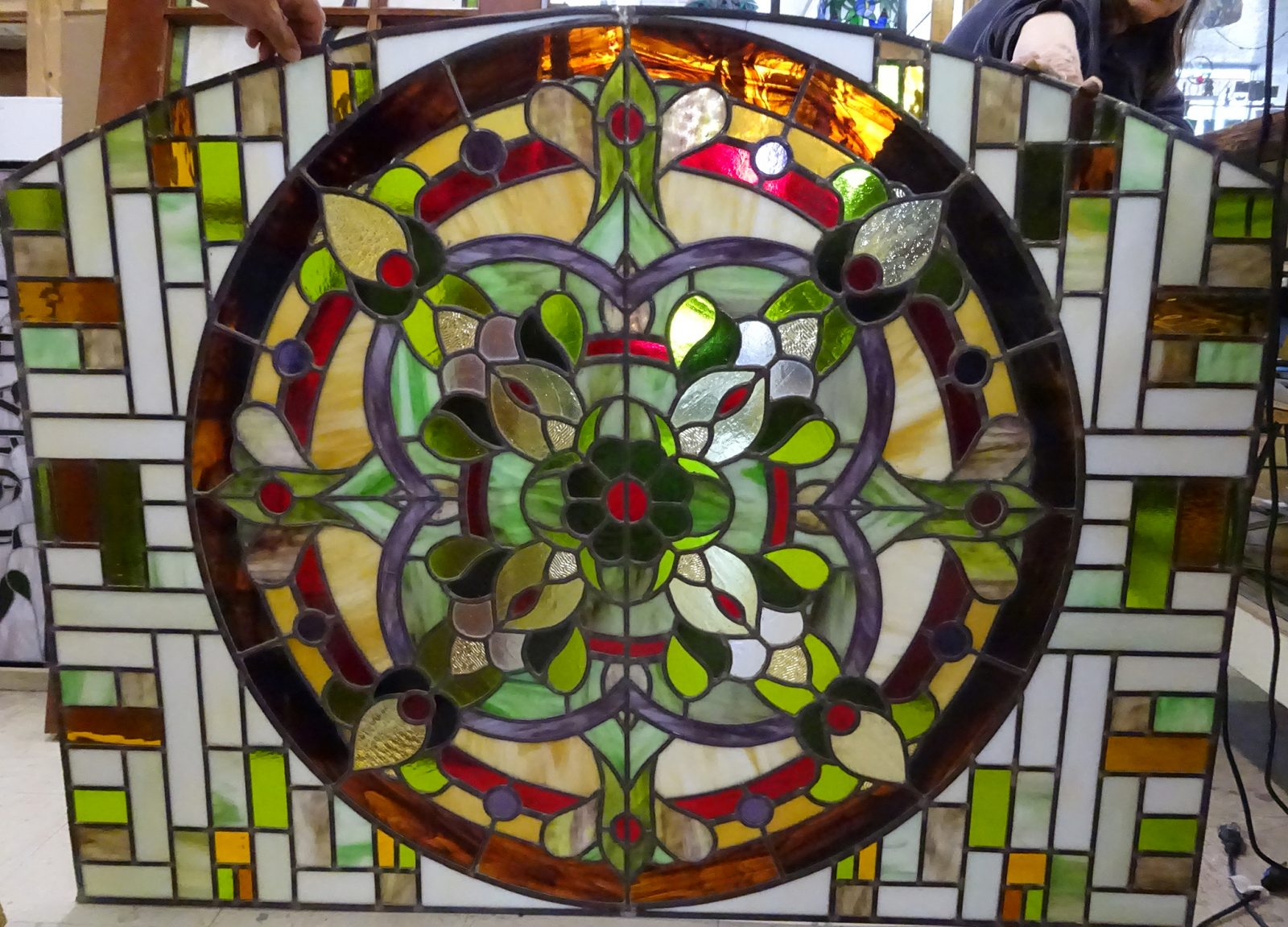 carson transom stained glass
