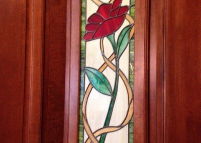 rose cabinet door Stained Glass