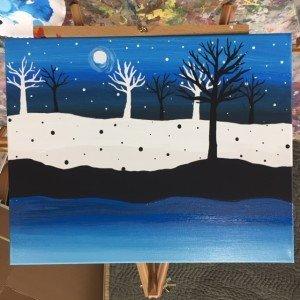 Tulsa paint palette winter night