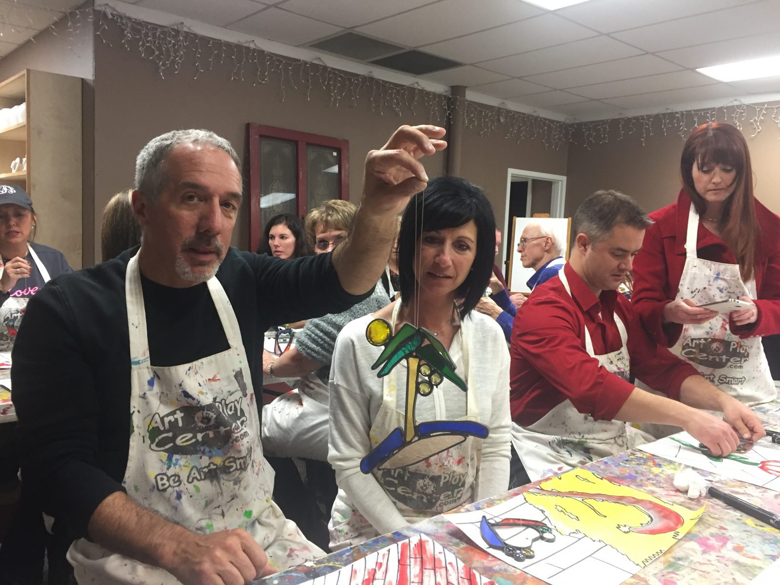 Team Art Glass Experience painting and stained glass