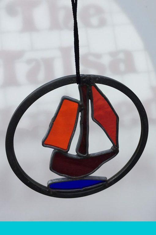 Hanging Sail Boat Garden Spirit