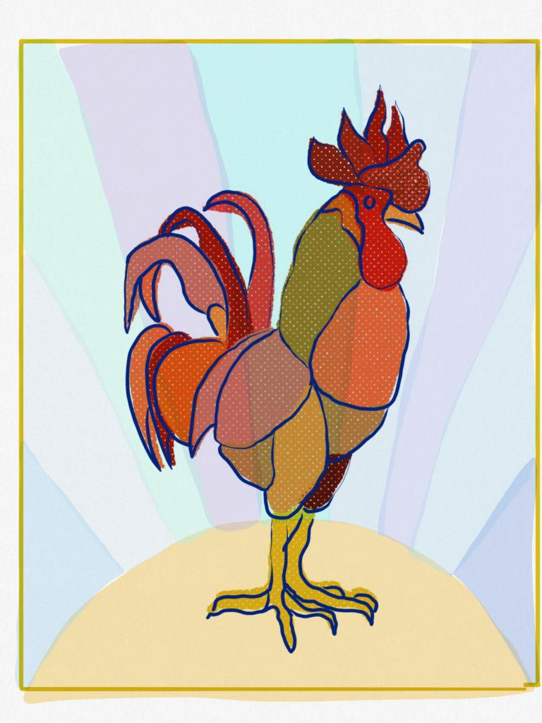 Rooster by Tulsa Paint Palette